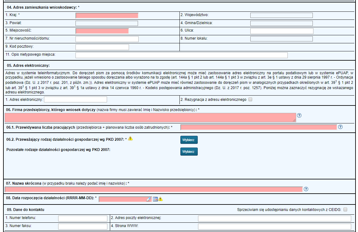 How to set up a company? How to complete the CEIDG-1 application step by step?
